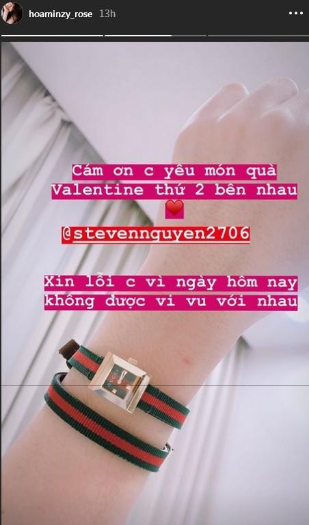 Công khai clip tỏ tình, Hòa Minzy không quên khoe khéo quà Valentine khủng trị giá gần 20 triệu đồng-1