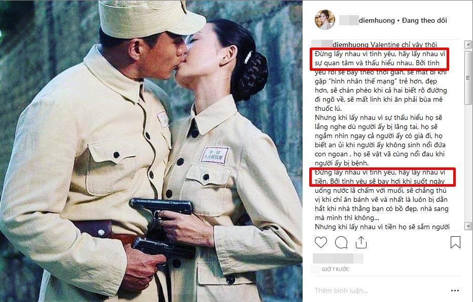 Hoa hậu Diễm Hương gây shock với triết lý hôn nhân: Đừng lấy nhau vì tình yêu, hãy lấy vì tiền-2