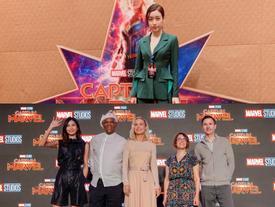 Hoa hậu Đỗ Mỹ Linh 'bắn' tiếng Anh như gió ngay tại họp báo quốc tế 'Captain Marvel'