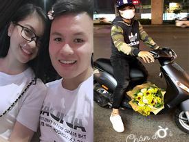 Được Quang Hải phi xe máy đến tặng hoa ngày Lễ tình yêu, Nhật Lê không cảm động thì thôi còn than: 'Chán đời'