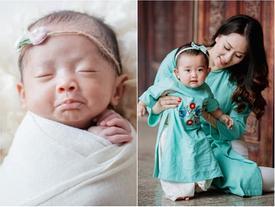 Mới ngày nào sinh non 2,2kg mà giờ đây con gái Khánh Thi lớn phổng phao, xinh xắn không ngờ