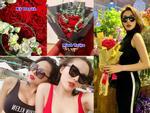 Kỳ Duyên khoe hoa người yêu tặng ngày Valentine, Minh Triệu lập tức bị réo tên vì cũng có quà giống y hệt