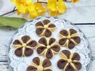 Phát sốt với bánh quy chocolate hoa mai đẹp xinh ngon miệng