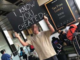 Phát hiện bị người yêu 'cắm sừng', chàng trai ra sân bay làm điều kinh ngạc