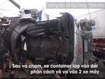 Bình Dương: Xe container chở hàng chục tấn thép đâm sập quán ăn-4