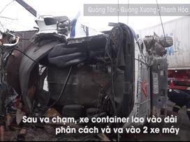 Người thoát chết khi xe container lao vào nhà: Tôi chạy theo phản xạ
