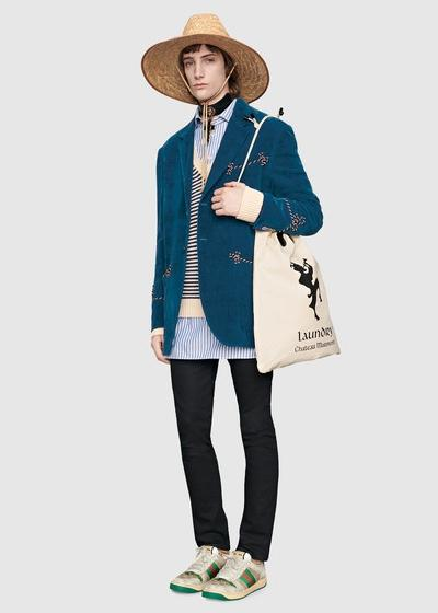 Hết dép rọ bộ đội, Gucci lại tung ra mẫu mũ hơn 10 triệu đồng mà chẳng khác gì nón cói đi biển bán đầy ngoài chợ-5