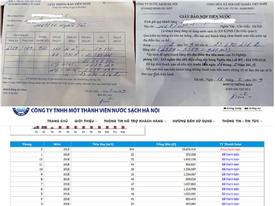 Hà Nội: 'Choáng' thông báo tiền nước 23,6 triệu đồng/tháng, không nộp cắt nước