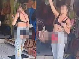 Mặc quần 'xẻ trước cắt sau' ở vùng nhạy cảm, thời trang chả thấy đâu nhưng nữ chính nhận cả 'rổ' gạch đá