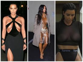 Ngực nặng trĩu như hai trái bom nhưng Kim Kardashian vẫn nghiện diện đầm 'bức tử' vòng 1