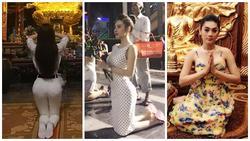 Đâu chỉ giới trẻ, loạt sao Việt cũng bị lên án gay gắt khi ăn mặc phản cảm chốn linh thiêng