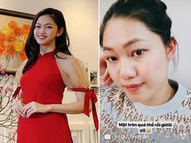 Hơn 2 tháng sau khi kết hôn, gương mặt Á hậu Thanh Tú đang dần phá nét vì mang thai