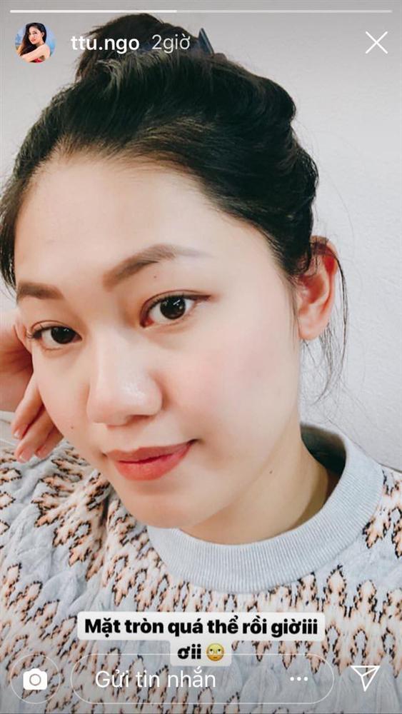 Hơn 2 tháng sau khi kết hôn, gương mặt Á hậu Thanh Tú đang dần phá nét vì mang thai-3
