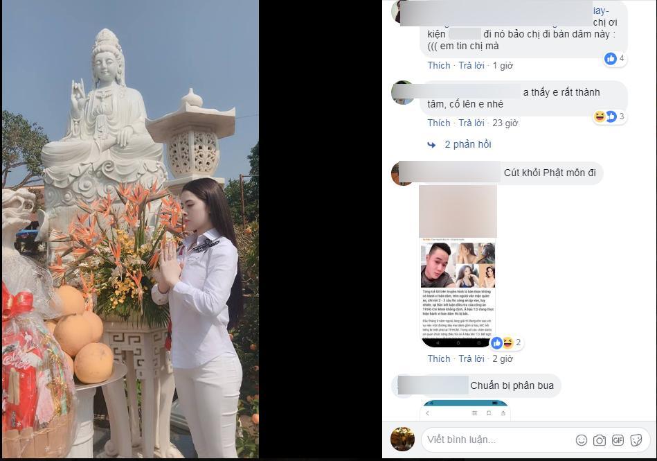 Thư Dung đăng ảnh đi chùa giữa lúc thông tin mới lan truyền.