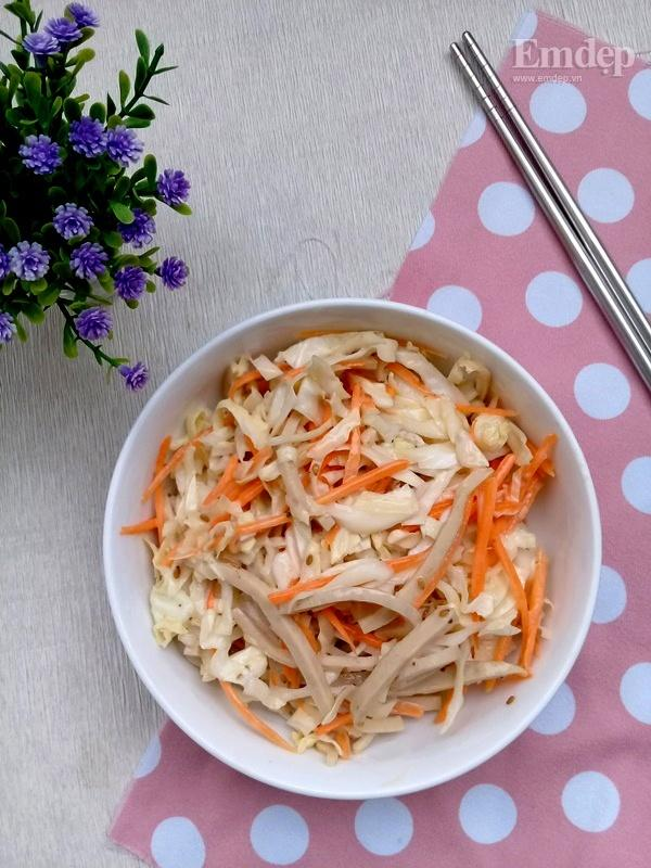 Salad bắp cải trộn sốt mè rang ngậy thơm cho bữa sáng gọn nhẹ-6