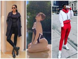 STREET STYLE SAO VIỆT: Tóc Tiên khoe body S-line với áo tắm - Tăng Thanh Hà lại kín mít như 'mafia áo đen'