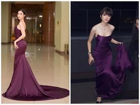 Đầu năm diện lại 'váy cũ' của Hương Giang Idol, Đỗ Mỹ Linh 'nhường bước' trước đàn chị vì chi tiết nhỏ xíu này