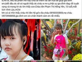 Nữ sinh lớp 8 ở TP HCM mất tích nhiều ngày qua