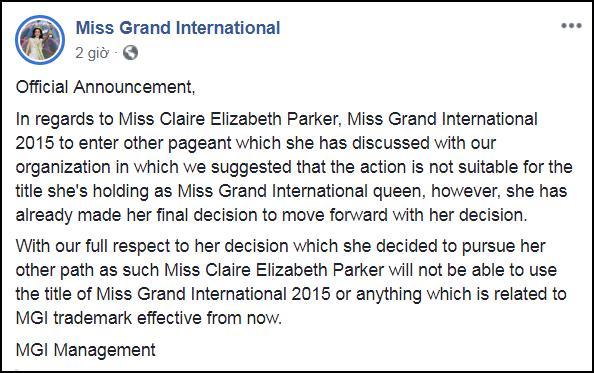 SHOCK: Hoa hậu Hòa bình Quốc tế 2015 bị truất ngôi vì chinh phục vương miện Hoa hậu Hoàn vũ 2019-3