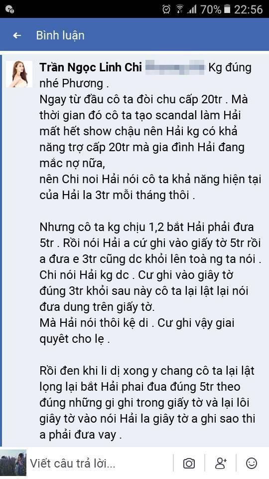 Lý Phương Châu tố Lâm Vinh Hải mặc cả tiền chu cấp cho con, Linh Chi đáp trả thay chồng: Cô ta lật lọng-4