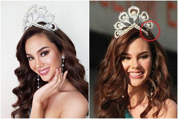 NHÌN MÀ XÓT: Catriona Gray làm vỡ vương miện phượng hoàng 6 tỷ sau 2 tháng đăng quang Hoa hậu Hoàn vũ 2018-2