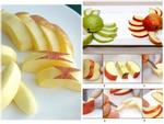 Bí quyết gọt và trang trí táo như nghệ nhân