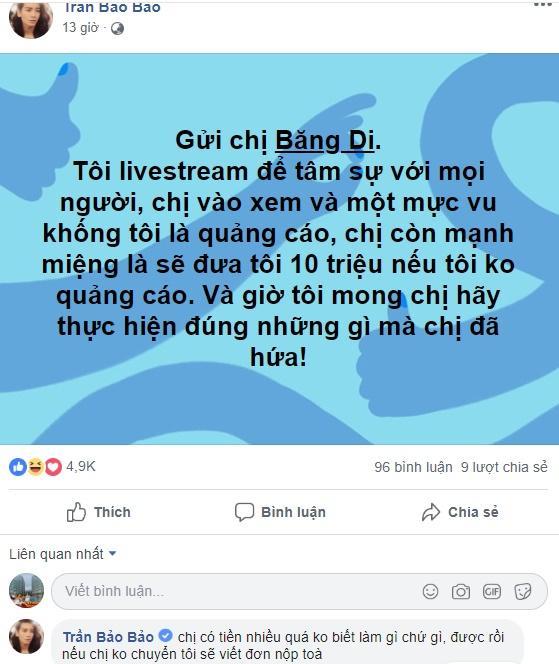 Vu khống BB Trần livestream bán hàng, Băng Di suýt mất 10 triệu - Lê Dương Bảo Lâm may mắn thoát kiếp bị vét túi-4