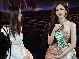 Không kém Hương Giang, Nhật Hà trả lời phỏng vấn tiếng Anh cực bản lĩnh tại Hoa hậu Chuyển giới 2019