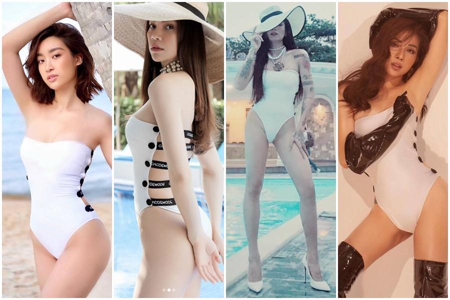 Hoa hậu nghèo Đỗ Mỹ Linh đụng hàng đồ tắm với nữ hoàng giải trí Hồ Ngọc Hà và BB Trần: ai đẹp hơn ai?-13