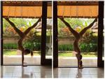 DỤI MẮT NHÌN LẠI 2 LẦN: Phương Trinh Jolie khoe hình tập yoga mà cứ tưởng ảnh khỏa thân