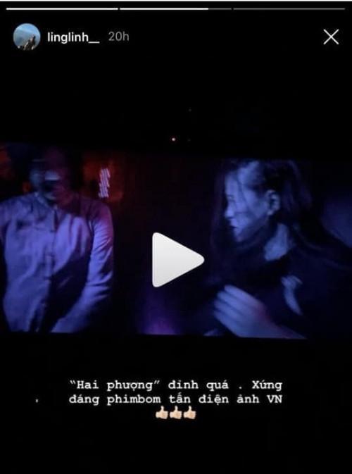 Lên tiếng xin lỗi nhưng vẫn bị mỉa mai vì đăng clip phim 'Hai Phượng' lên story, bạn gái Tiến Dũng đáp trả đầy ẩn ý-1