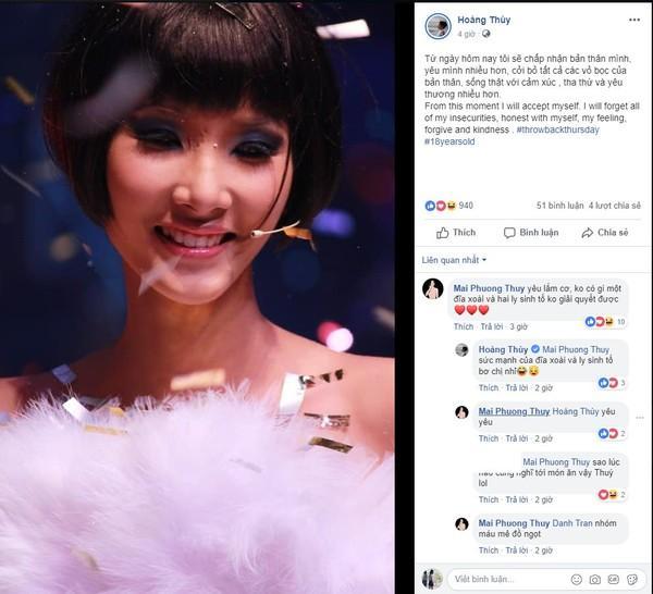 Hoàng Thùy chưa thi Miss Universe 2019 mà đã có hoa hậu cho mượn vương miện đội đầu để lấy may-3