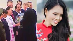 Thêm nữ sinh nổi tiếng vì được chọn tặng hoa tiễn Tổng thống Donald Trump về Mỹ