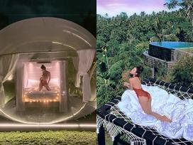 Mặc bikini uốn éo giữa rừng, Phương Trinh Jolie khiến fan lo lắng: 'Sexy như này có bị côn trùng cắn?'