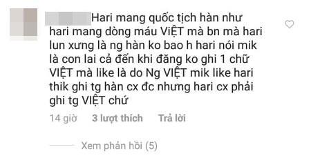 Chỉ vì một status vui, Hari Won bị chỉ trích dùng tiếng Hàn, khinh người Việt-2