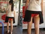 Mặc áo phông ngắn nhưng không diện đồ lót, cô gái trẻ hớ hênh lộ cả vòng 3 khiến người đối diện đỏ mặt không dám nhìn-3