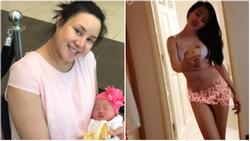 Vy Oanh tự gọi mình là 'heo nái xấu không còn chỗ để xấu' với hình ảnh tăng đến 24 kg khi mang bầu