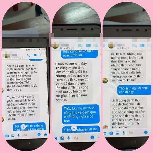 Loạt tin nhắn gạ tình nữ sinh lớp 10 của thầy giáo 40 tuổi trường chuyên Thái Bình khiến dân mạng rúng động-1