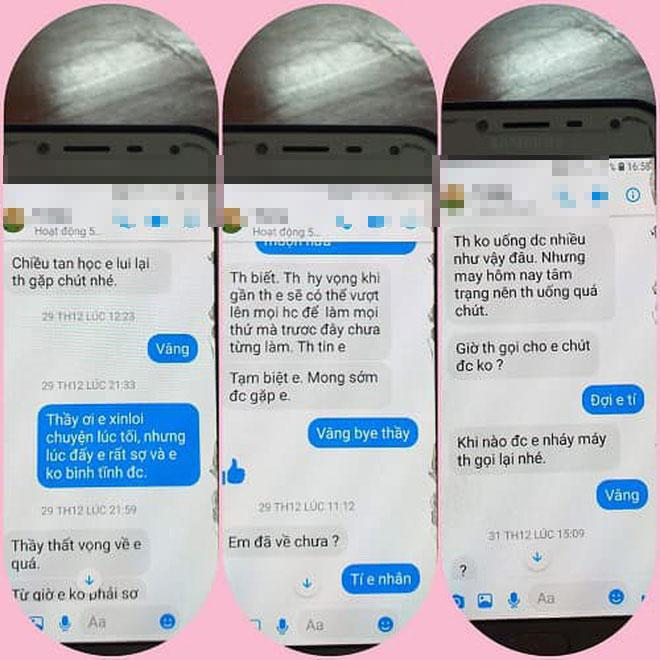 Loạt tin nhắn gạ tình nữ sinh lớp 10 của thầy giáo 40 tuổi trường chuyên Thái Bình khiến dân mạng rúng động-3