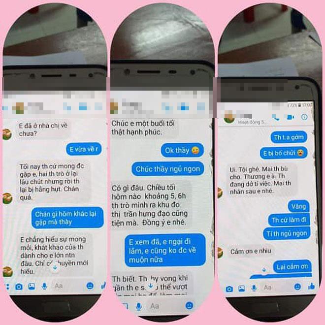 Loạt tin nhắn gạ tình nữ sinh lớp 10 của thầy giáo 40 tuổi trường chuyên Thái Bình khiến dân mạng rúng động-4