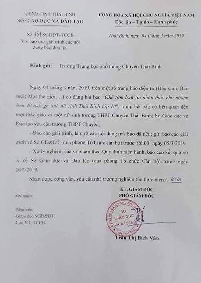 Loạt tin nhắn gạ tình nữ sinh lớp 10 của thầy giáo 40 tuổi trường chuyên Thái Bình khiến dân mạng rúng động-7