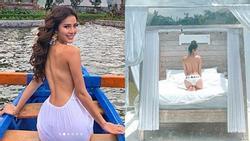Phương Trinh Jolie thích thú vì có thể khỏa thân dạo chơi ở khu du lịch