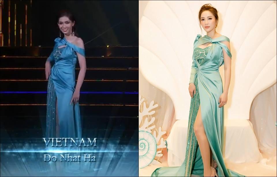 Đã mặc váy cũ của Bảo Thy thì chớ, mỹ nhân chuyển giới Nhật Hà lại còn mắc lỗi sến rện tại Miss International Queen 2019-6