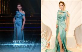 Đã mặc 'váy cũ' của Bảo Thy thì chớ, mỹ nhân chuyển giới Nhật Hà lại còn mắc lỗi sến rện tại Miss International Queen 2019