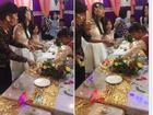 Bị bôi bánh kem đầy mặt, cô nàng phù dâu trở thành tâm điểm buổi tiệc vì loạt biểu cảm hài hước