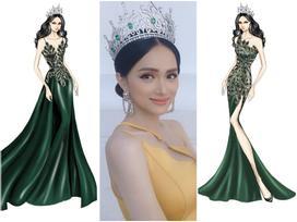Sát giờ chung kết Hoa hậu Chuyển giới Quốc tế, Hương Giang 'thả thính' bằng 4 bộ đầm dạ hội đẹp nghẹn lời