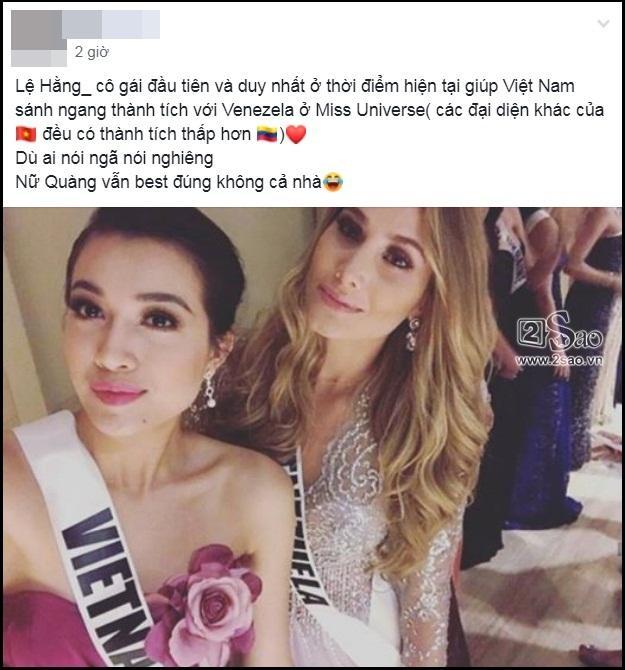 Không phải HHen Niê, Lệ Hằng là cô gái duy nhất giúp Việt Nam sánh ngang Venezuela tại Miss Universe-1