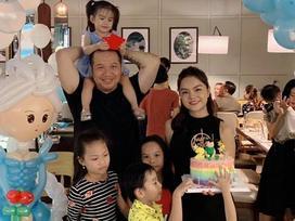 Phạm Quỳnh Anh và Quang Huy bất ngờ tái hợp vui vẻ trong tiệc sinh nhật con gái