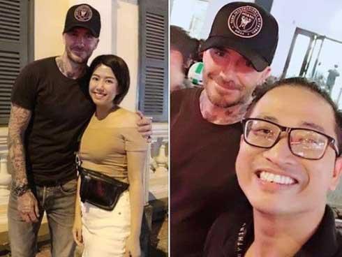 Beckham vui vẻ chụp ảnh cùng fan tại phố đi bộ ở TP HCM-1