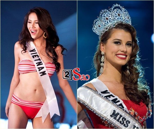 Không phải HHen Niê, Lệ Hằng là cô gái duy nhất giúp Việt Nam sánh ngang Venezuela tại Miss Universe-5